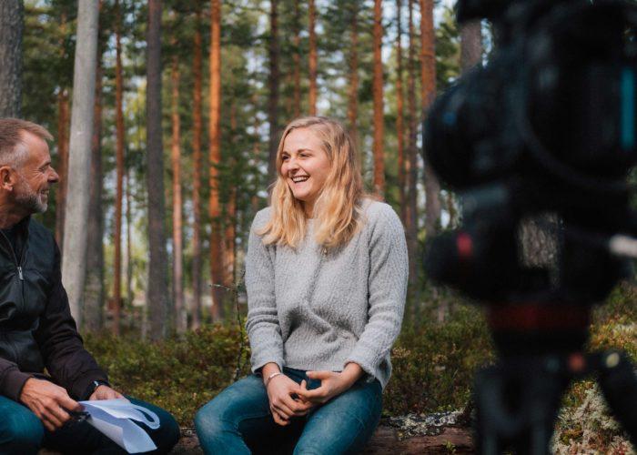 Holtab möter Stina Nilsson del 1. Sportjournalistik