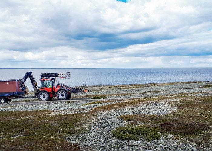Specialbyggd nätstation säkrar elförsörjningen på ö i Bottenviken