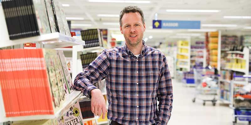 Magnus Larsson är ansvarig för fastighetsteknik på Gekås Ullared. Foto: Gekås