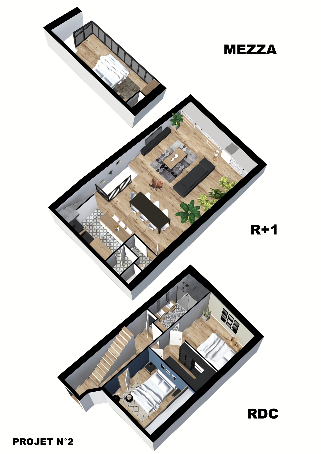 Vente appartement duplex Antibes 06600 T4 90m²_projet 2