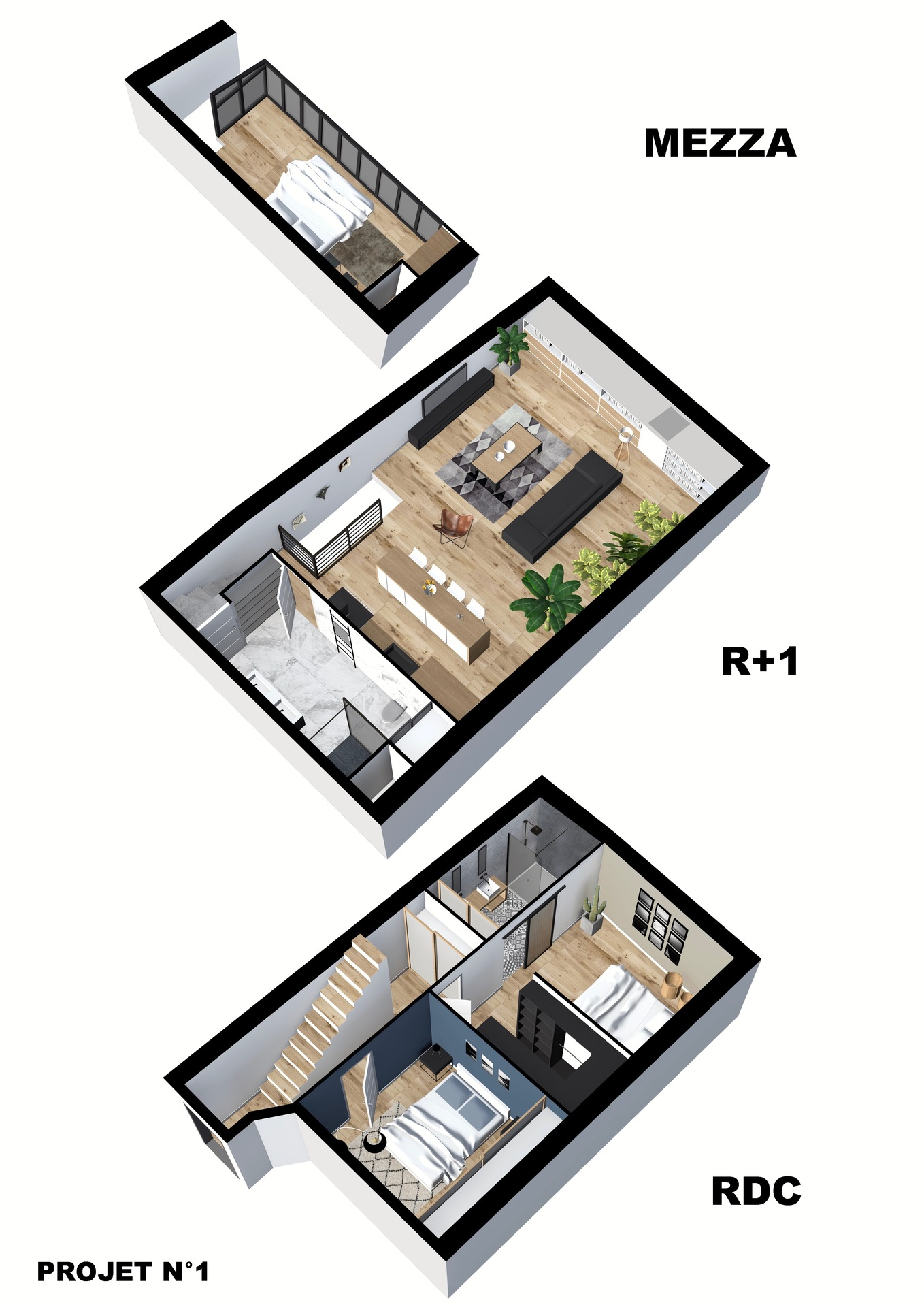 Vente appartement duplex Antibes 06600 T4 90m²_projet 1