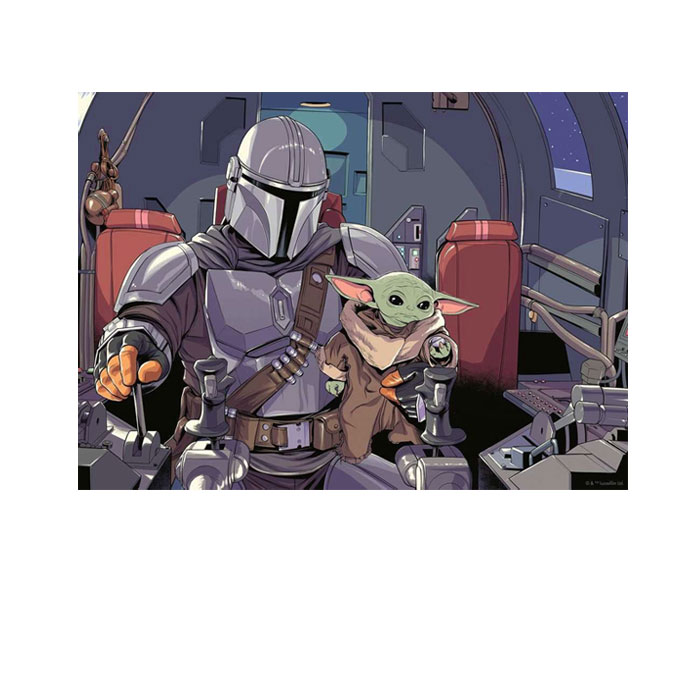 PUZZLE THE MANDALORIAN CARTOON
