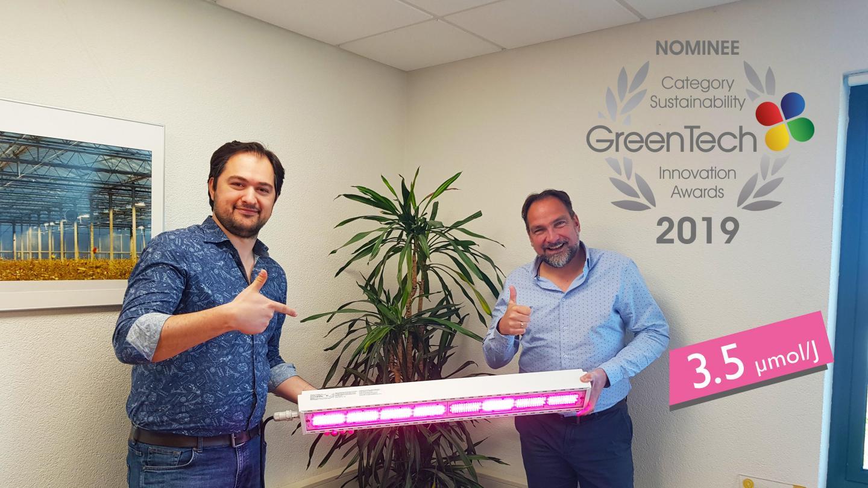 Hortilux genomineerd voor GreenTech Sustainability Award 2019