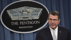 Deputy secretary of defense ashton carter briefs the press at the pentagon in arlington  va 130925 d bw835 074