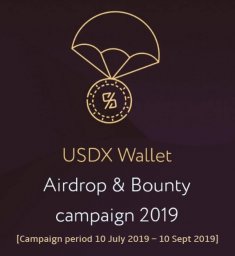 USDX tokens wallet, Airdrop, Bounty, Free coin, Free token, Crypto, Cryptocurrency, Altcoins, Stable coins, ETH, BTC, LTC