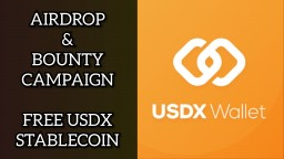 USDX Stable Coin Giveaway Airdrop Bounty Free Crypto ETH Cryptocurrency Altcoins Stable coins BTC LTC