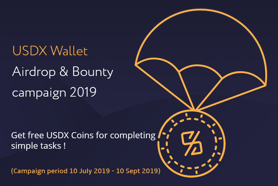 USDX tokens wallet, Airdrop, Bounty, Free coin, Free token, Crypto, Cryptocurrency, Altcoins, Stable coins, ETH, BTC, LTC 1