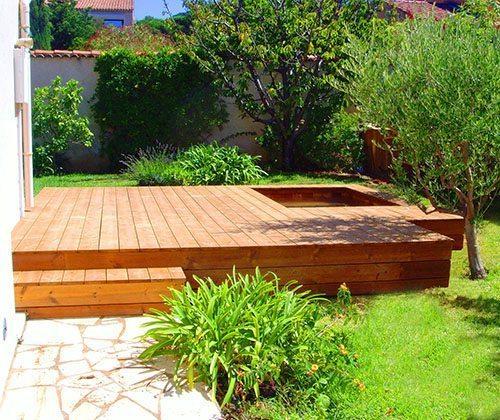 Mini-piscines en bois intérieur et extérieur