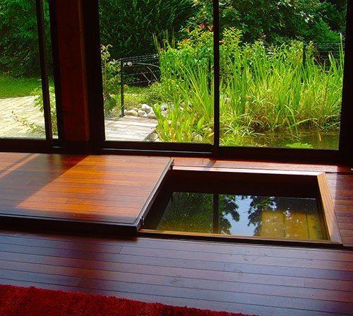 Spa intérieur en bois