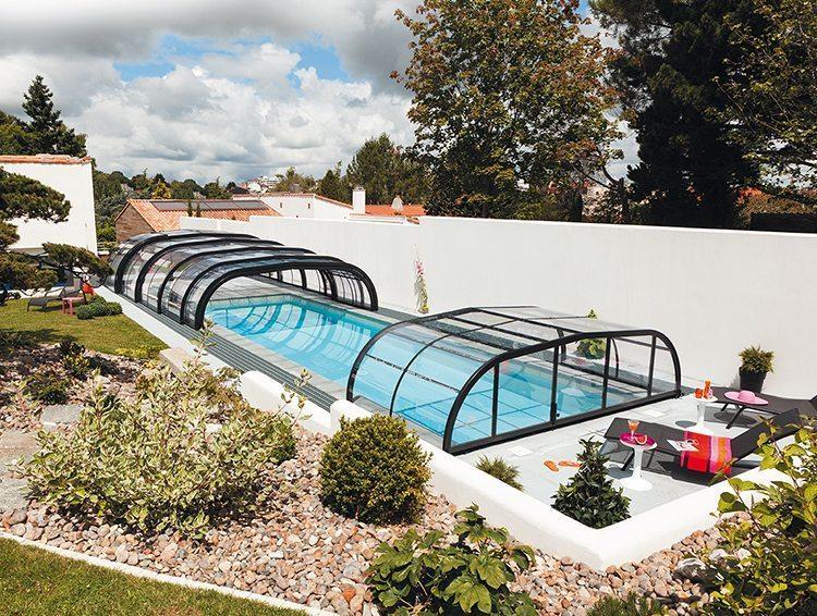 Abri de piscine mi-haut Elliptik