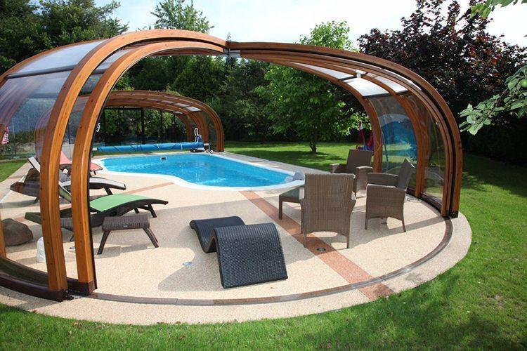 Abri de piscine rotonde