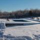 piscine en hiver sous la neige