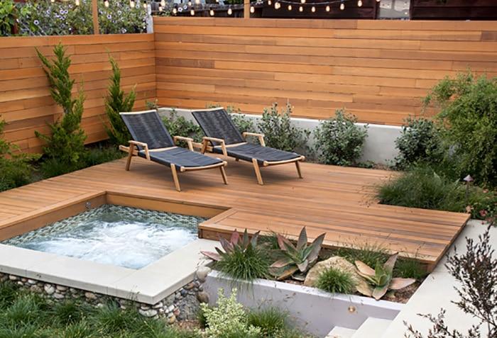 10 idées d'installation de spa encastré