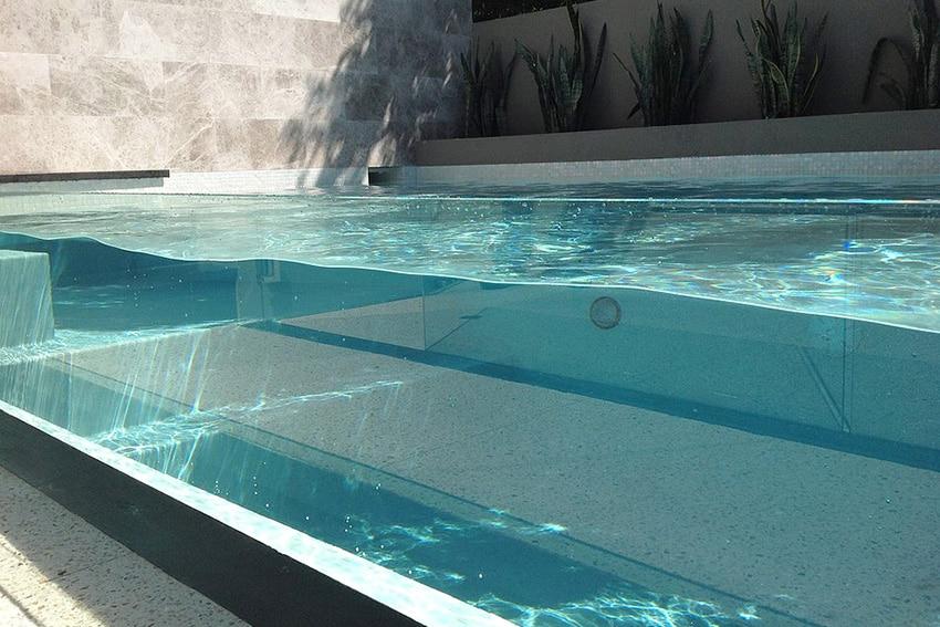 piscine verre