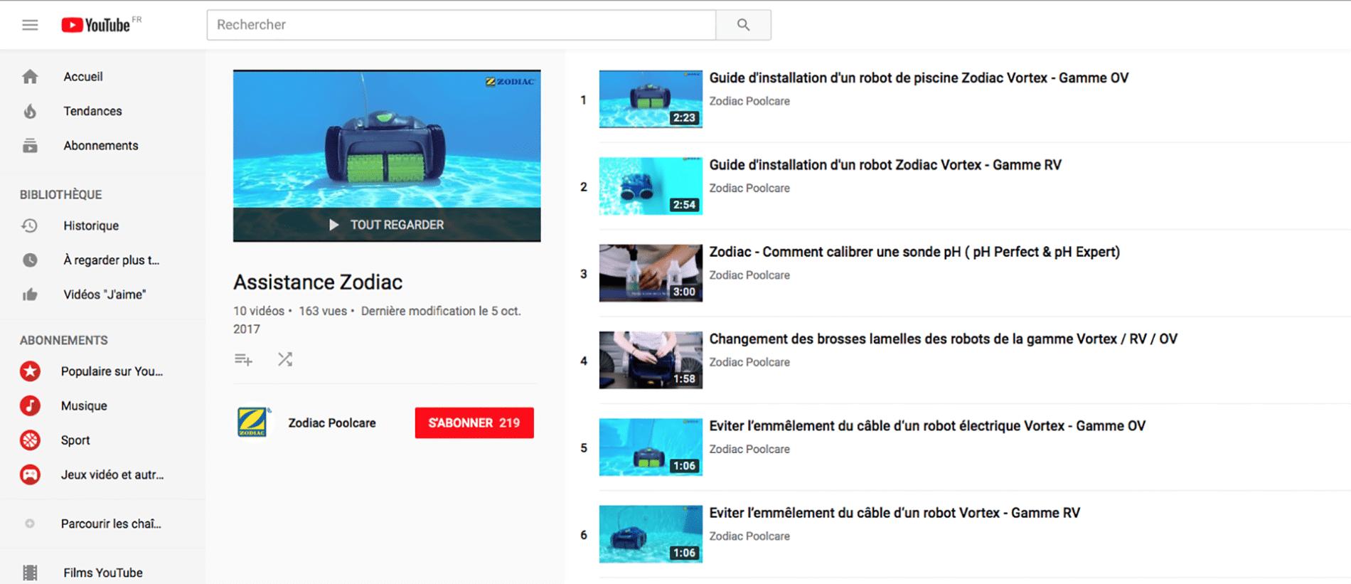 vidéos tutorielles Zodiac®