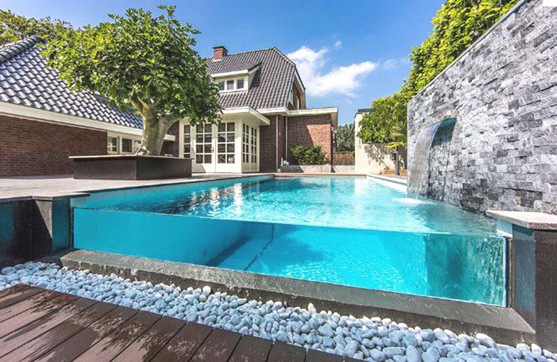 piscine à débordement eden Blue