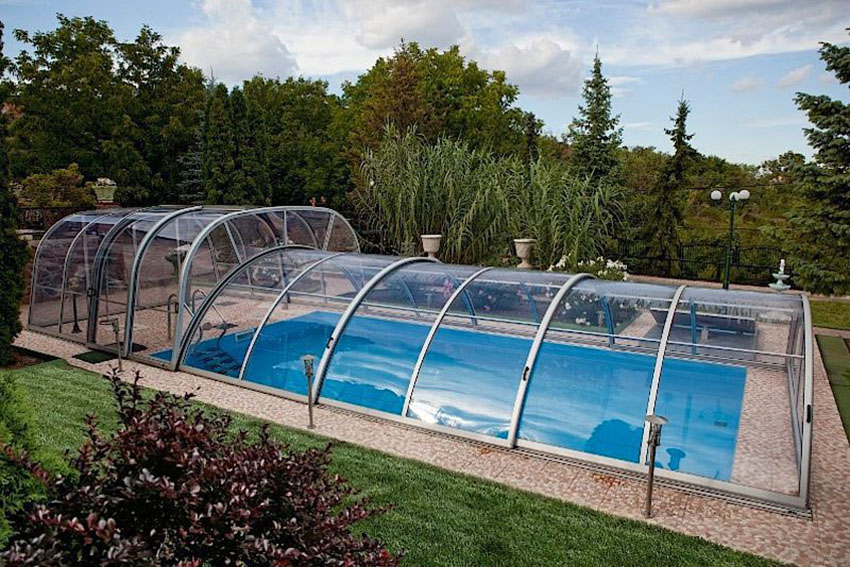 Abri de piscine mixte