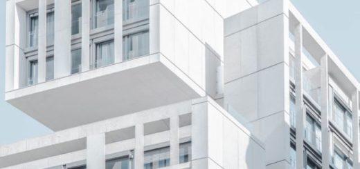 modern white building segment
