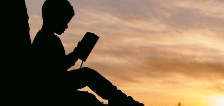 kid reading haibun