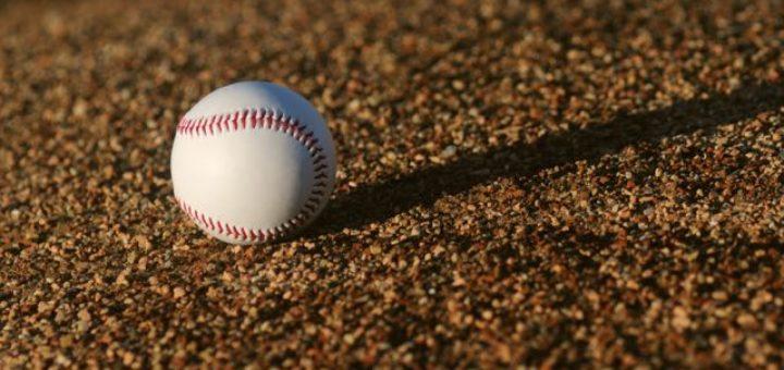 baseball on the gravel