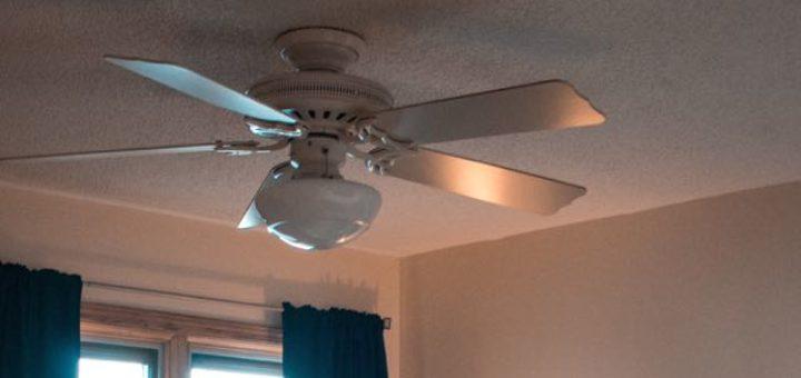 ceiling fan in a hotel room