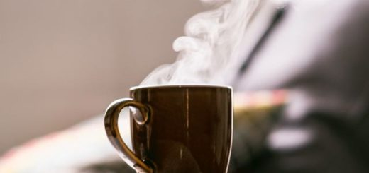 coffee mug with steam coming out
