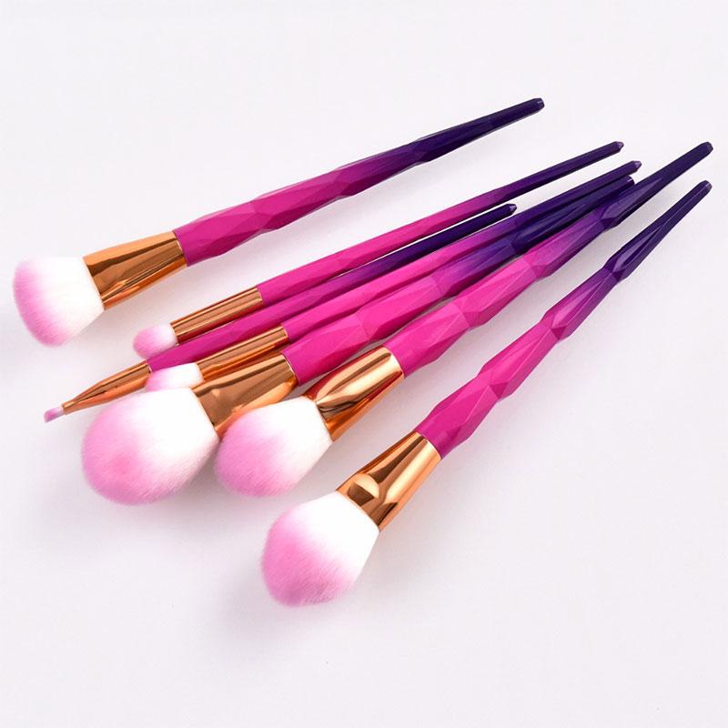 Σετ 7 Πινέλα Μακιγιάζ Pink/Purple Diamond