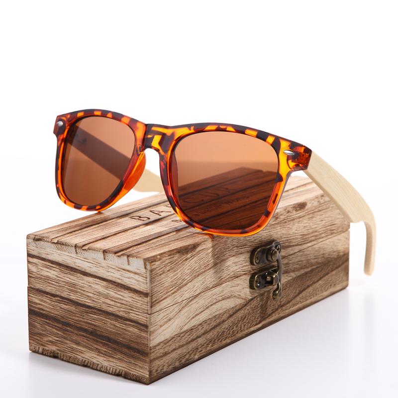 93518933cf Γυαλιά Ηλίου Bamboo Wayfarer Style Ταρταρούγα με Καφέ Φακό Unisex ...