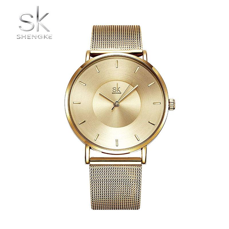Ρολόι Shengke Minimal Χρυσό