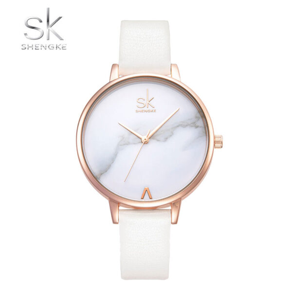 Ρολόι Shengke Marble Liberty Rose Gold