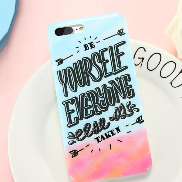 Θήκη Art Print Be Yourself Rainbow TPU – iPhone 7 / iPhone 8