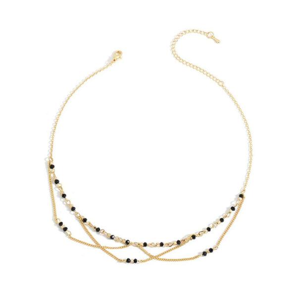 Choker Κολιέ Net Gold με διακοσμητικές πέτρες 88533d9416e