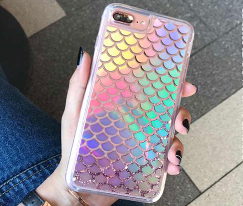 Θήκη Mermaid Laser με Στρασάκια – iPhone 6 / 6s / 7 / 8