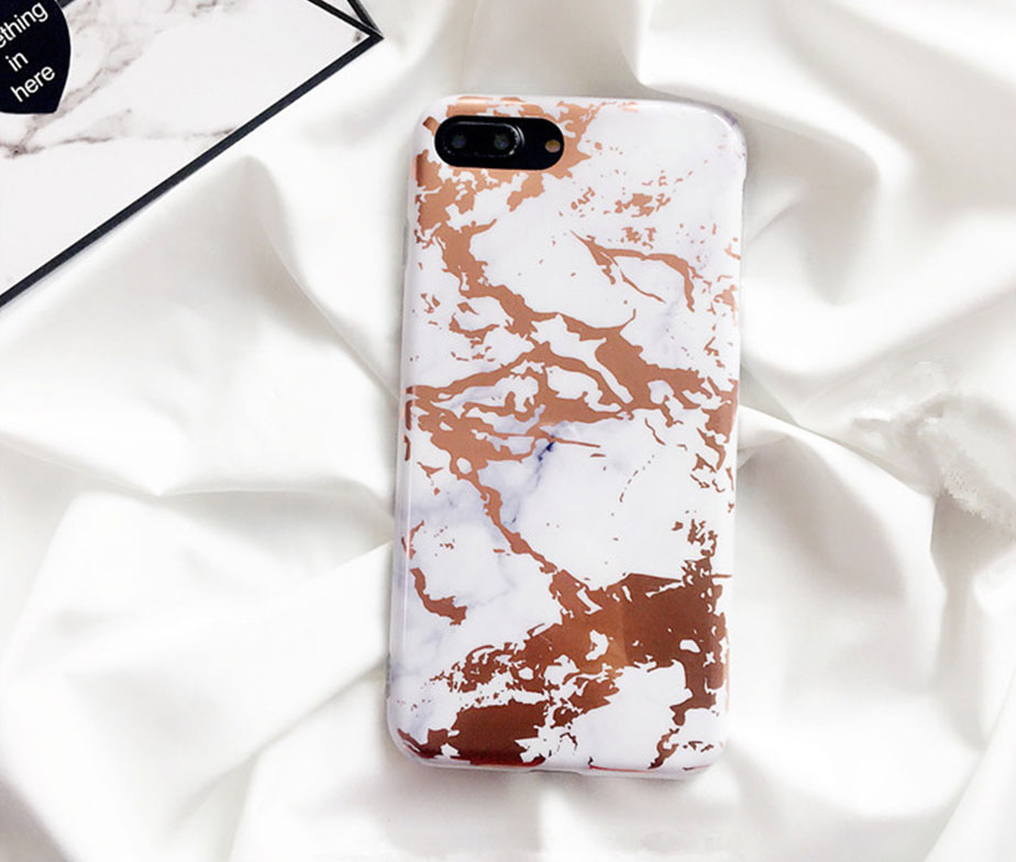 Θήκη Marble White / Gold - iPhone 7 / iPhone 8