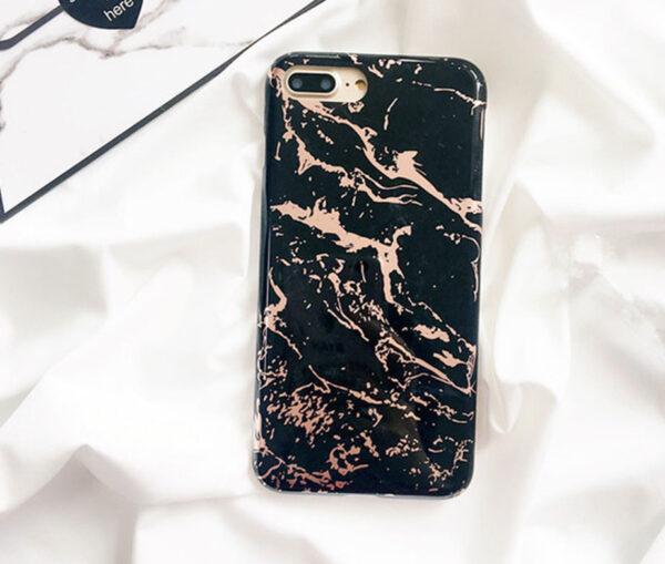 Θήκη Marble Black / Gold - iPhone 7 / iPhone 8