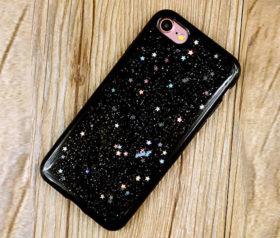 Θήκη Glitter Star Μαύρη - iPhone 7 / iPhone 8