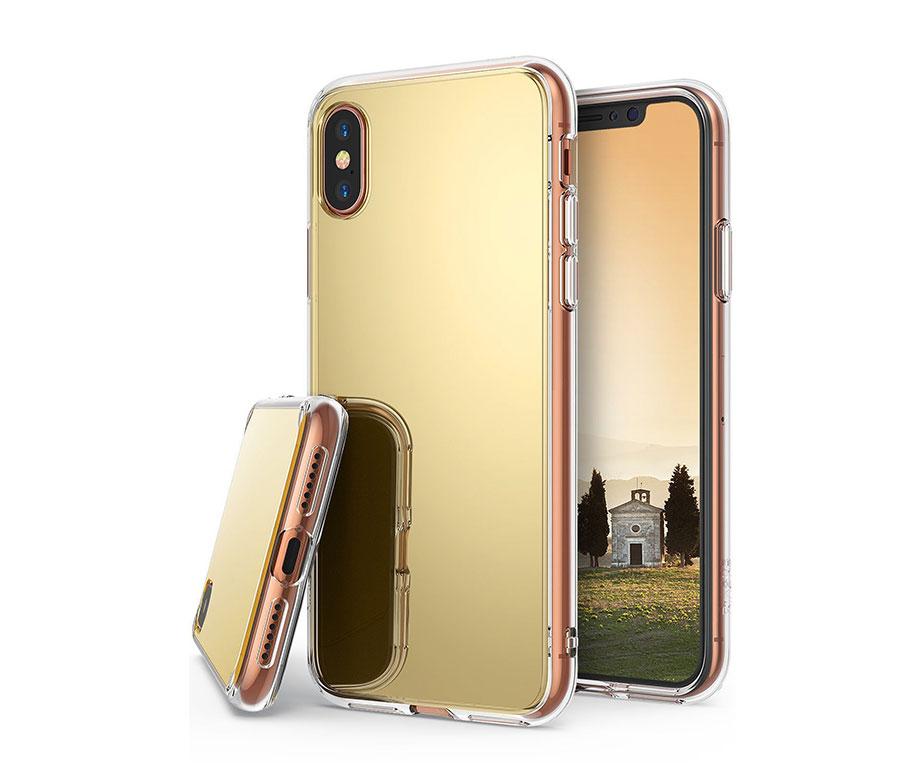 Θήκη Καθρέπτης Χρυσή TPU - iPhone X