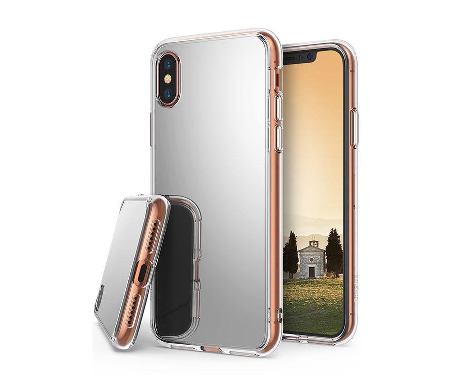 Θήκη Καθρέπτης Ασημί TPU - iPhone X