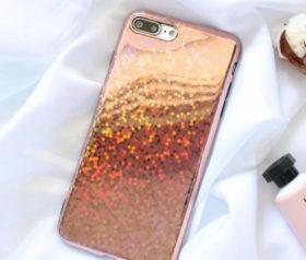 Θήκη Glitter Blink Rose Gold TPU - iPhone 7/8