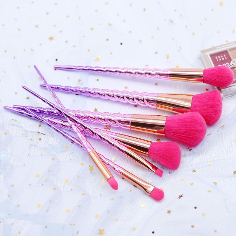 Σετ 7 Πινέλα Μακιγιάζ Unicorn Lovely Pink