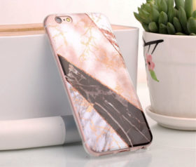 Θήκη Glitter Powder Marble Black - iPhone 6/ iPhone 6s