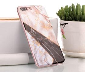 Θήκη Glitter Powder Marble Black - iPhone 6 PLUS/ iPhone 6s PLUS