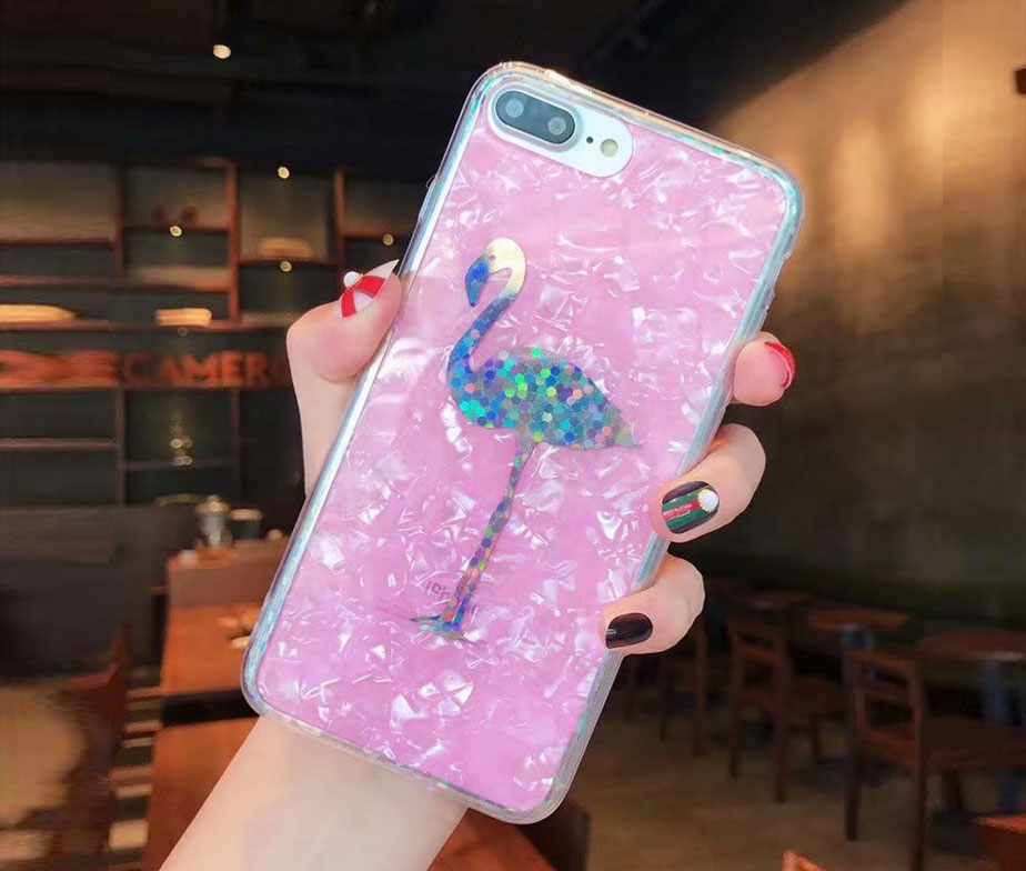 Θήκη Crystal Laser Flamingo - iPhone 6/ iPhone 6s