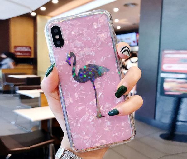 Θήκη Crystal Laser Flamingo - iPhone X / iPhone Xs