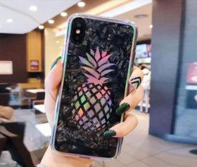 Θήκη Crystal Laser Pineapple - iPhone X / iPhone Xs