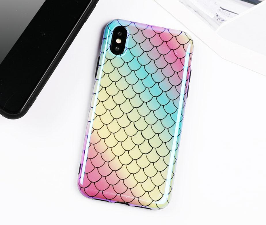 Θήκη Mermaid Rainbow Laser - iPhone X / iPhone Xs