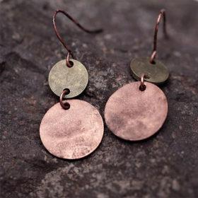 Κρεμαστά Σκουλαρίκια Ancient Spirit Double Copper