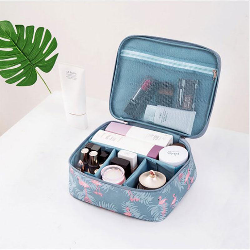 Tσαντάκι Καλλυντικών Kit Box Ταξιδιού Petrol Flamingo