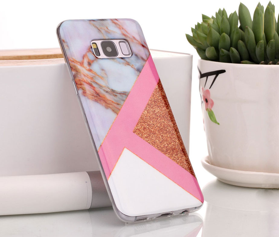 Θήκη Glitter Powder Marble Rose – Galaxy S8