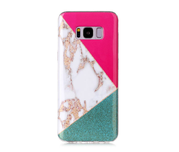 Θήκη Glitter Powder Marble Green - Galaxy S8